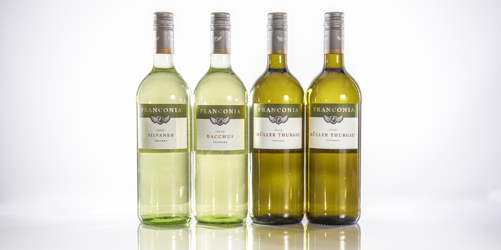 weinscheune himmelstadt_Produkte_Weinflaschen Franconia